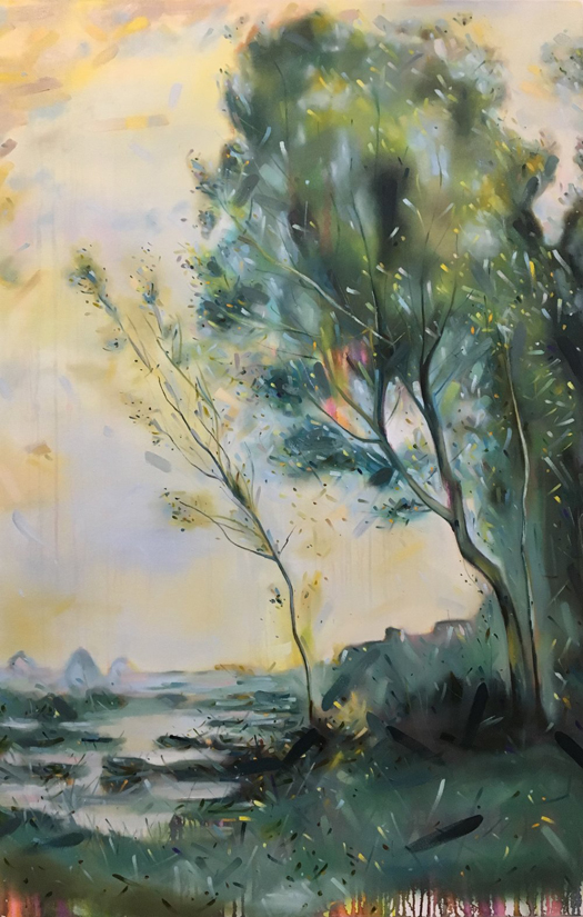 Christopher Friesen, contemporary art, Corot, landscape painting, Vancouver art gallery,Elissa-Cristall-Gallery