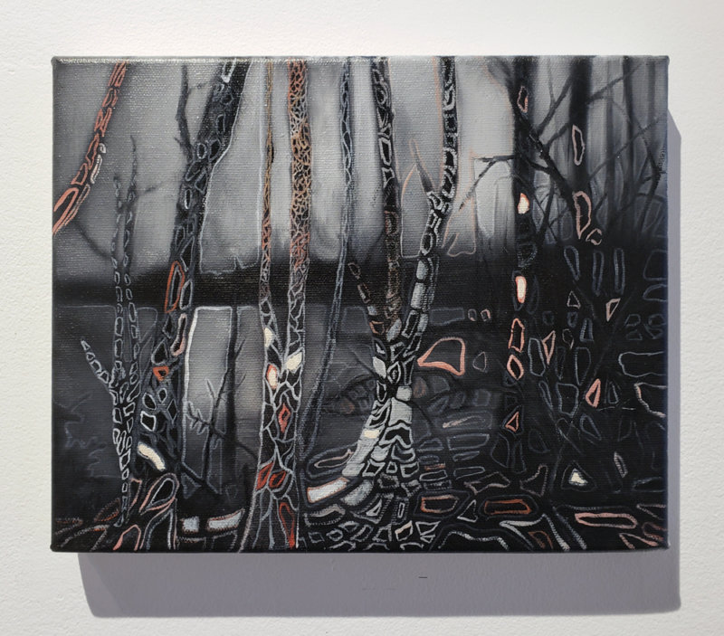 Jeroen Witvliet, Lake Patterns 3, oil on panel, Elissa Cristall Gallery