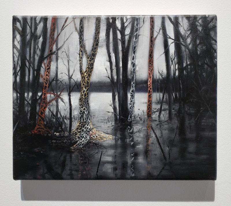 Jeroen Witvliet, Lake Patterns 4, oil on panel, Elissa Cristall Gallery