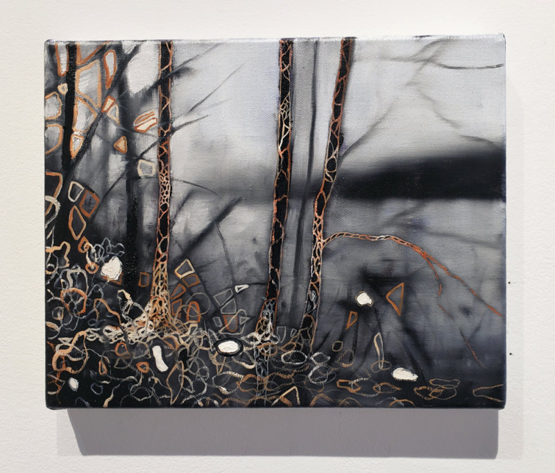 Jeroen Witvliet, Lakeside, oil on panel, Elissa Cristall Gallery