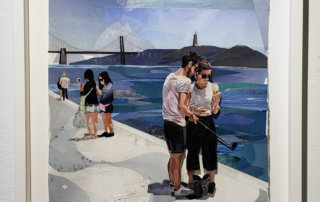 Jessie McNeil, Belem Tower, collage, works-on-paper, art gallery Vancouver, Elissa Cristall Gallery
