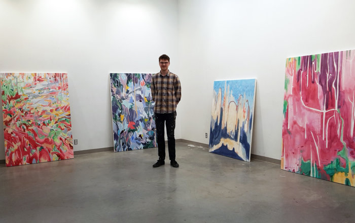 Kyle Scheurmann, Canadian landscape painter, contemporary art, YVR, Elissa Cristall Gallery