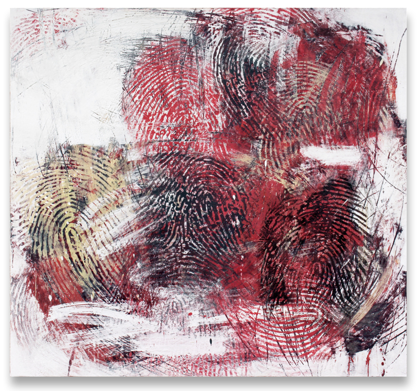 Randall Steeves, Every Action, encaustic on canvas