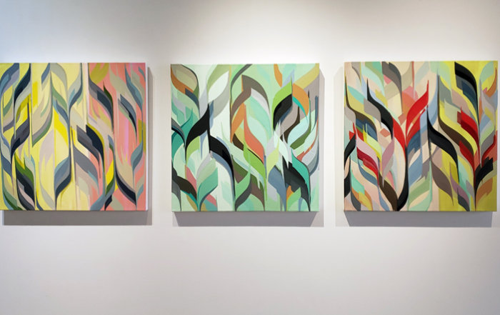 Amanda-Reeves-Installation-abstract-paintings-contemporary-art-modern-art-Elissa-Cristall-Gallery