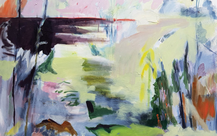 Lesley Finlayson, gulf island, landscape painting, contemporary art, art consulting, Vancouver, Elissa Cristall Gallery