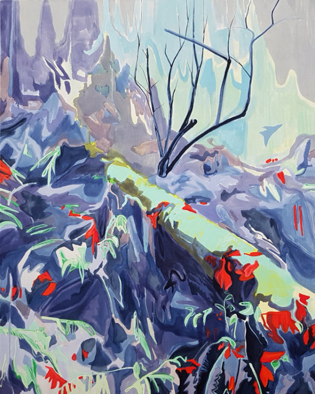 Kyle Scheurmann, landscape, abstract, contemporary art, painting, Vancouver, Elissa Cristall Gallery