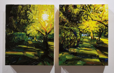 Mara Korkola, landscape city painting, contemporary art, gallery, Vancouver Elissa Cristall Gallery