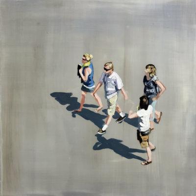 Sara Caracristi, figurative painting, aerial views, contemporary art, Vancouver, Elissa Cristall Gallery