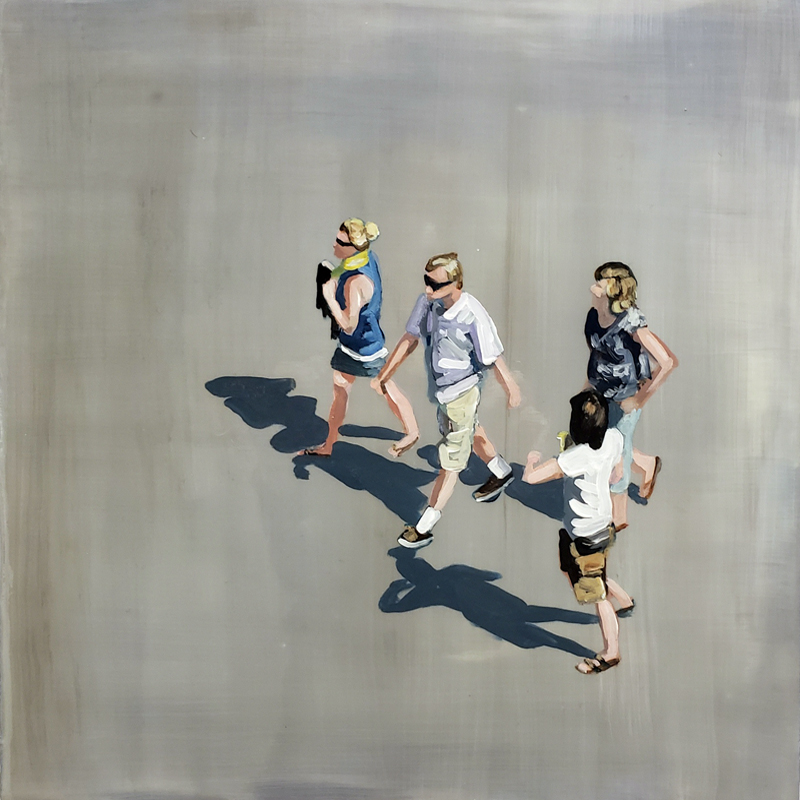 Sara Caracristi, figurative painting, aerial views, contemporary art, Vancouver, Elissa Cristall Gallery