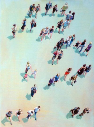 Leading the Way by Sara Caracristi, acrylic on canvas, figurative painting