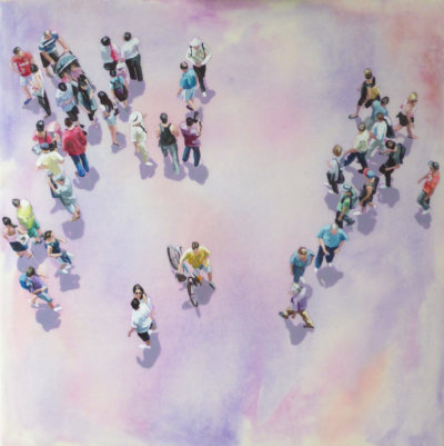 Sara Caracristi, Sights Unseen, figurative painting, city scenes, Vancouver, Elissa Cristall Gallery