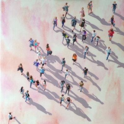 Sara Caracristi, figurative painting, street scenes, Vancouver, Elissa Cristall Gallery