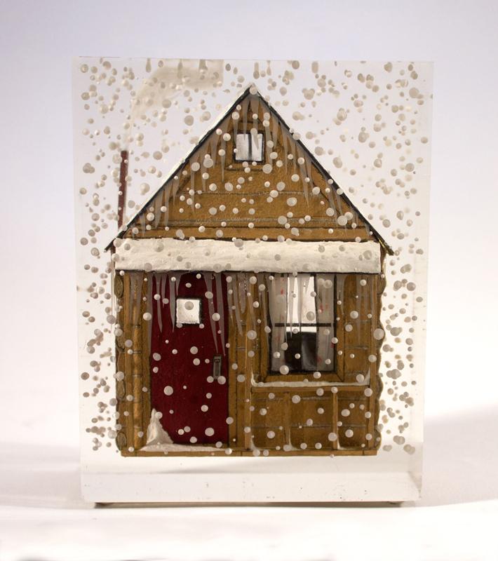 Jessica Korderas, cast resin, sculpture, narrative, collage, contemporary art, Vancouver, art exhibition, Elissa Cristall Gallery