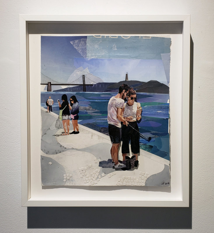 Jessie McNeil, collage, contemporary art gallery, Vancouver, Elissa Cristall Gallery