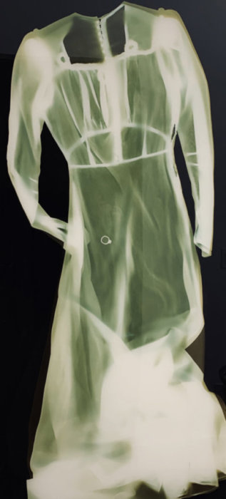 Grace Gordon-Collins, photograms, photography, contemporary art, capture, wedding dress, Vancouver, Elissa Cristall Gallery