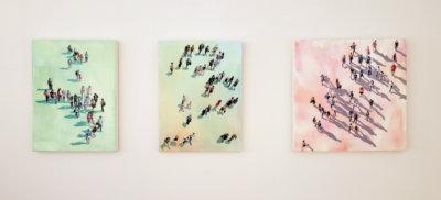 Sara Caracristi, figurative art, installation photo, art gallery, Vancouver, Elissa Cristall Gallery
