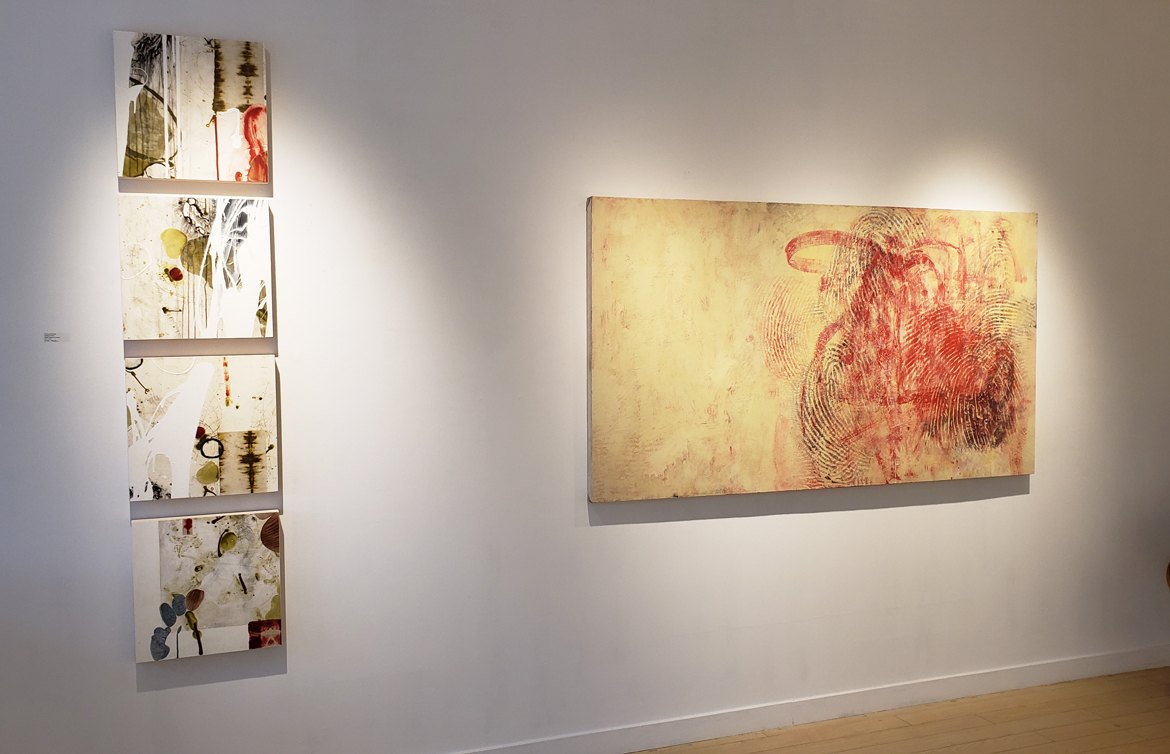 Painting exhibition, installation photo, Elissa Cristall Gallery, Vancouver