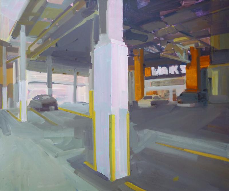 `Marks, underground parkade, urban landscape, Vancouver, Elissa Cristall Gallery