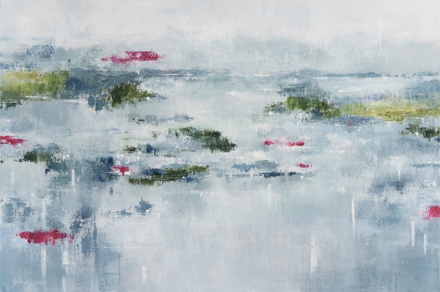 Gina Sarro, Serenity, acrylic on canvas, 40 x 60 inches, Elissa Cristall Gallery
