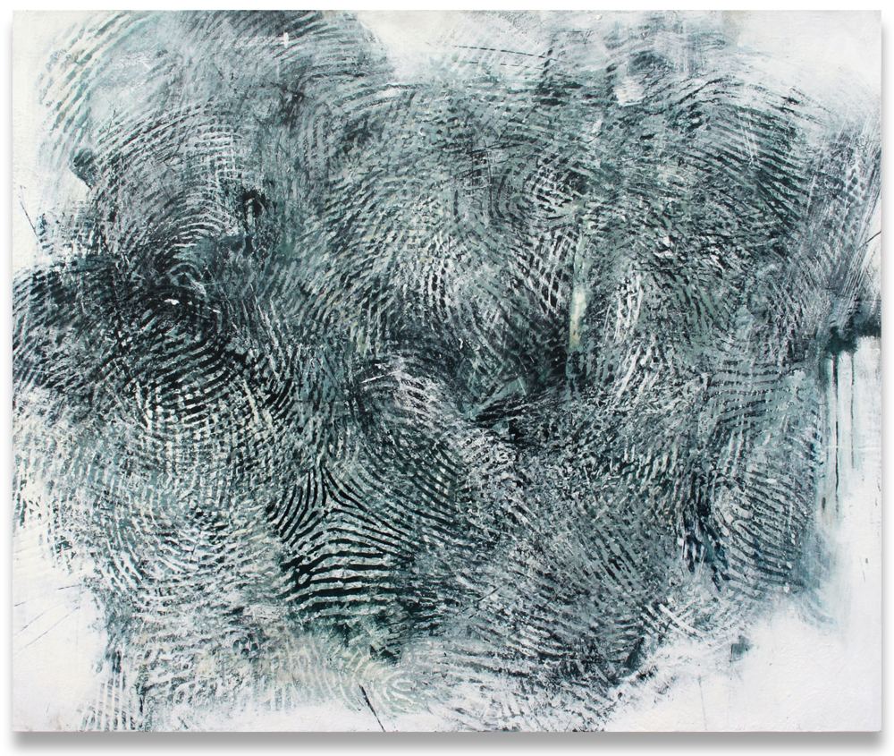 "Randall Steeves, The Distances, encaustic on canvas, 48"" x 58"", Elissa Cristall Gallery"