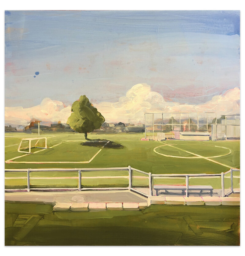 Gillian Richards, Field, AcrylicOnCanvas, 36x36-Elissa Cristall Gallery