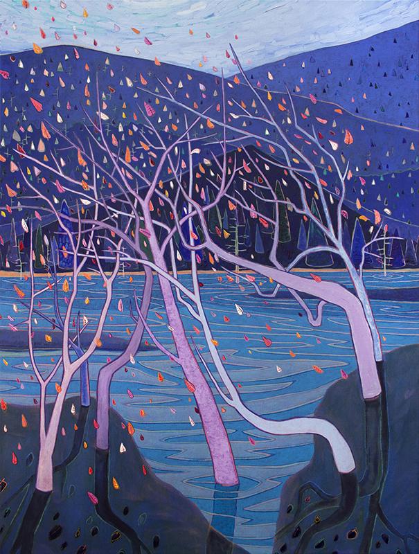 "Kyle Scheurmann, Vancouver Island, oil on canvas, 48"" x 36"", Elissa Cristall Gallery"