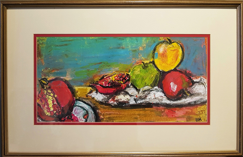 Vicky Marshall, Apples, oil pastel