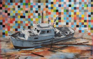 Jereon-Witvliet-ShipWreck-breaking-of-the-vessel-oil-on-canvas-180x240cm-ecg